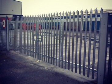 Galvanised Palisade Gates