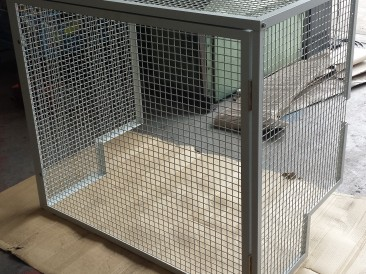 Air conditioning unit protection cage