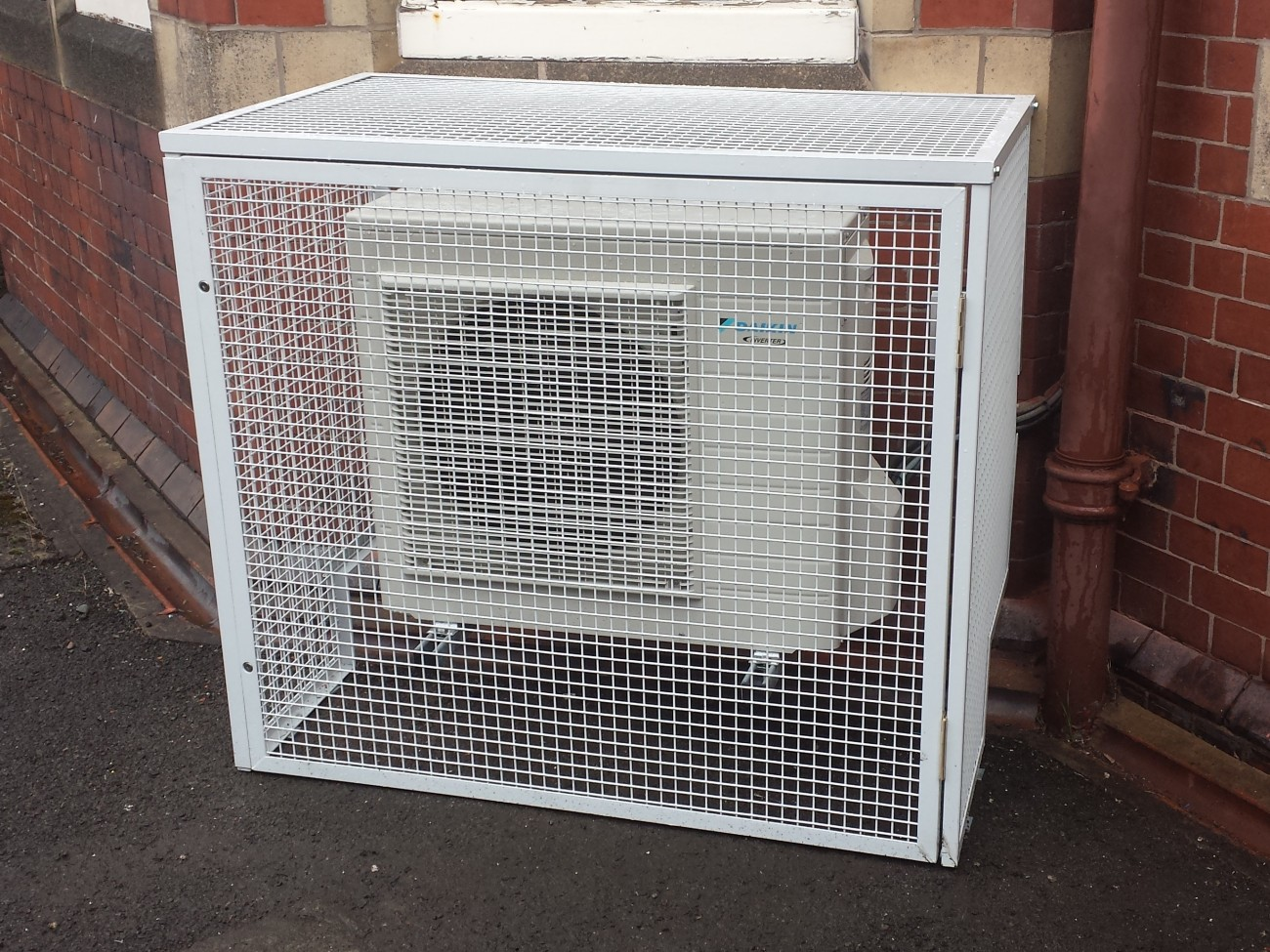 Air Conditioning Unit Protection Cage Cross Fabrications