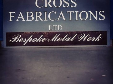 Bespoke mild steel sign